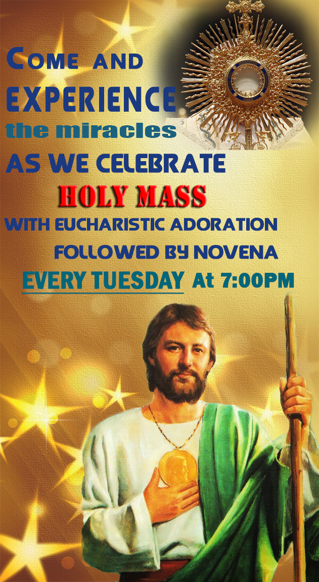 St Jude's novena on every Tuesdays